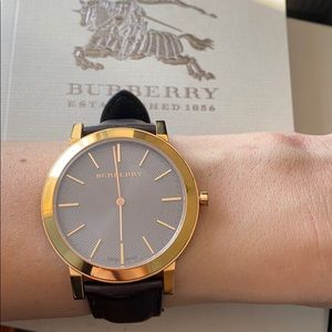BURBERRY WATCH BROWN ROSE GOLD